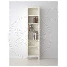 HEMNES Bookcase - white stain - IKEA - Would love two of these. one on each side of a tv console Hemnes Bookcase, Bookcase Storage, Built In Bookcase, Bookshelves, Tall Cabinet Storage, Bookcase White, Ikea Solid Wood, Bookcase Lighting, Ikea Book