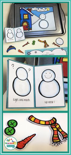 Try these cute snowman theme Apraxia activities for kids! This interactive Winter game includes a story board, drill sheet, and character cutouts so your students learn while they play in speech therapy.