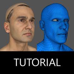 Tutorial - 3D Scan Head Retopology , Andor Kollar on ArtStation at https://www.artstation.com/artwork/4RaW2