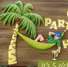 This fun cottage sign includes a dimensional restful scene with carved gold letters on a faux wood background. Beach House Signs, Home Signs, 3d Signage, Cottage Signs, Wood Background, Fun, Detail, Design, Ideas
