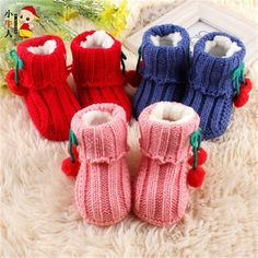 Cheap baby shoes winter, Buy Quality shoes infant directly from China infant toddler Suppliers: Lovely Baby Boy Girl Knitted Crib Shoes Infant Toddler Footwear Solid Cotton Cute High Quality Baby Shoes Winter 704331 Knit Baby Dress, Baby Shoes Pattern, Crochet Baby Shoes, Bebe Baby, Baby Love, Knit Boots, Baby Slippers, Crib Shoes, Weaving Patterns
