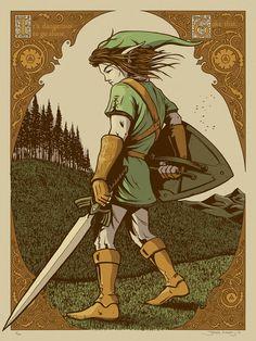 James Flames Legend of Zelda and Dethklok Posters