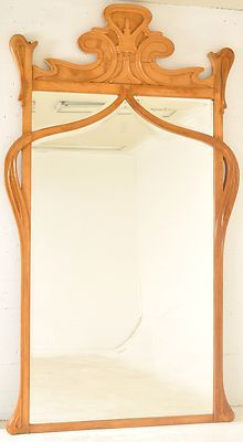 Art Nouveau mirror.  This is the style I'd like to put in both Bathrooms.  Naturally a larger one for the Master.