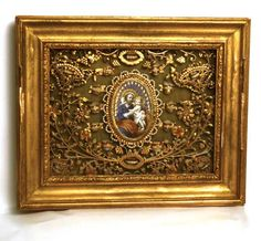Magnificent Antique Napoleon III Framed Paperolle Quill Scroll Work from lachapelleprivee on Ruby Lane