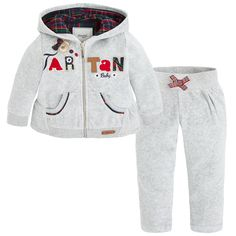 Embroidered tracksuit Greys - Mayoral