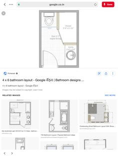 Small Bathroom Plans, Small Bathroom Layout, Floor Plans, How To Plan, House, Design, Home, Homes