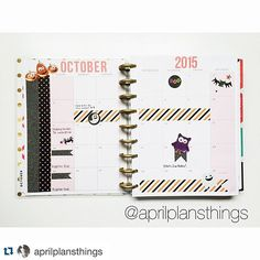 #Repost from our Admin April with her challenge pic for Day 1! @aprilplansthings with @repostapp. ・・・ Day 1 - October #octoberinstalist #fbhappyplanneraddictgroup #plannerchallenge #octoberchallenge #planneraddict #mambi #happyplanner #meandmybigideas #thehappyplanner #plannerlove