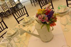Centro de mesa vintage Quinta Pavo Real del Rincón www.pavorealdelrincon.com.mx