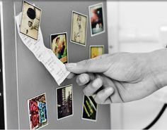 Stickygram Magnets ($15, Set of Nine). Keep receipts and notes looking their best with a few Stickygram refrigerator magnets, designed from your very own Instagram pics. Using special group shots of your family is encouraged.