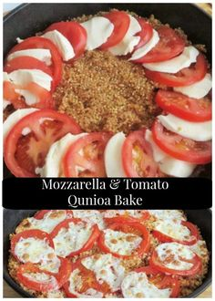 Mozzarella and Tomato Quinoa Bake: A creamy casserole that features fresh mozzarella and tomatoes. #glutenfree #meatless