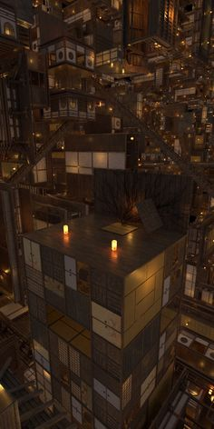 Demon Slayer, Slayer Anime, City Aesthetic, Aesthetic Anime, Anime City, Anime Scenery Wallpaper, Anime Wallpaper Live, Cyberpunk Art, Environment Concept Art