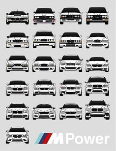 BMW Poster / Complete BMW M Car History / BMW / bmw / bmw / bmw / bmw / bmw / bmw / bmw logo / bmw M Power Print All BMW M Cars ever made in one print! This print captures the BMW M Car production … Bmw E30 M3, M2 Bmw, E46 M3, Bmw Car Models, Bmw Cars, Audi A4 B5, Audi R8, Bmw Logo, Audi Quattro