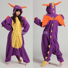 Cheap Spyro dragón unisex Pijamas Adultos Anime cosplay Pelele lindo, Compro Calidad Disfraces directamente de los surtidores de China: Traje Tiene el tamaño de adulto S / M / L / XL Por favor , consulte más abajo los detalles del