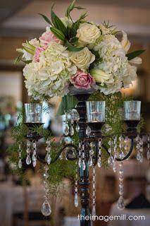 Candelabra centerpiece NC Wedding Ceremonies and Receptions at The Hudson Manor Estate
