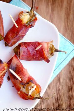A jalapeño popper with an european flair! Perfect for any party, tailgate party, superbowl party etc!! Prosciutto and Brie Jalapeno Poppers By The Nourished Caveman