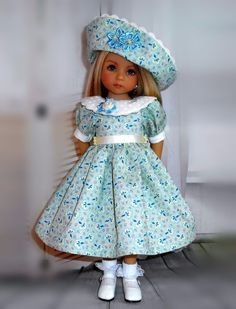 """Handmade dress and hat fits Dianna Effner 13"""" little darling doll in Dolls & Bears, Dolls, Clothing & Accessories, Fashion, Character, Play Dolls 