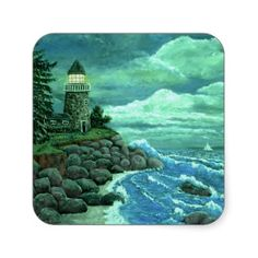 JERRYS LIGHTHOUSE by Ave Hurley Stickers