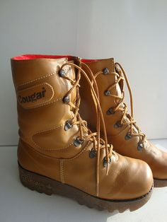 cougar boots. Remind me why i thought these were the coolest thing to own? LOL