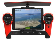 """Parrot Unveils New AR.Drone """"Bebop"""" Drone and Skycontroller Joystick Control Dock for iPad [video] Remote Control Drone, Radio Control, Parrot Ar Drone, Latest Drone, Flying Drones, Drone For Sale, Full Hd 1080p, Aerial Drone, Drone Quadcopter"""