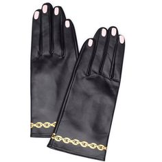 Undercover Leather Gloves (1,165 BAM) via Polyvore featuring accessories, gloves and leather gloves
