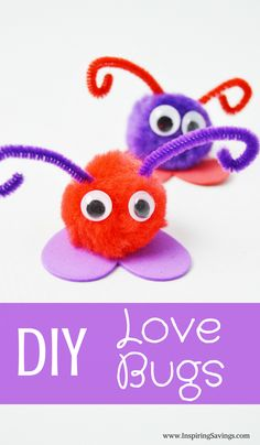 Valentine's Day Love Bug Craft For Kids Looking for Valentine Craft Ideas? Valentine's Day Love Bug Craft For Kids will make an excellent kid-made gift idea! These are easy and fun to make with the kids. They're quick, inexpensive and easy. Valentine's Day Crafts For Kids, Valentine Crafts For Kids, Crafts To Do, Holiday Crafts, Kids Diy, Quick Crafts, Spring Crafts, Kids Craft Projects, Arts And Crafts For Kids Toddlers