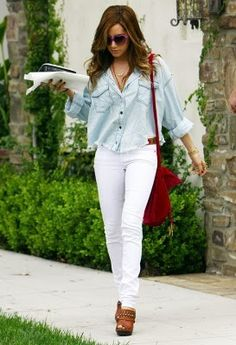 Put white jeans on your shopping list!
