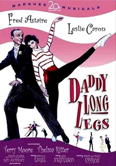 Daddy Long Legs 1955 - On a trip to France, millionaire Jervis Pendelton sees an 18 year old girl in an orphanage. Enchanted with her, but mindful of the difference in their ages, he sponsors her to college in New England. She writes him letters, which he doesn't read. After 3 years, he goes to visit her at a dance, not telling her that he is her benefactor...
