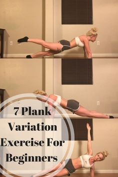 7 plank variation exercises for beginners or advanced fitness levels!