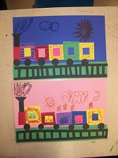 Mrs. Weber's Art Class: Kindergarten Shape trains