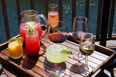 serve your favorite summer drinks on the dock #dressupyourdrink