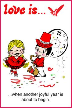 happy new year's eve  love is... when a new year is about to begin. kim casali comics