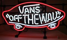Vans Off The Wall neon sign