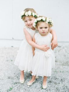 Sweet flower girls: http://www.stylemepretty.com/missouri-weddings/kansas-city-mo/2015/07/13/rustic-romantic-kansas-city-fresh-air-farm-wedding/ | Photography: Britta Marie - http://brittamariephotography.com/