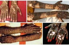 Mehndi in Indian tradition is usually applied during special days such as wedding and during Hindu festivals like Dassehra, Karva Chauth, Diwali, Vat Purnima, Bhai Dooj and Teej. Henna was originally used as a form of hand decoration mainly for brides. Keeping all this points in view we have brought here some beautiful Mehndi Henna designs for bridal mehndi application...  Read More