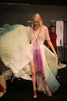 Backstage at Blumarine RTW Spring 2013