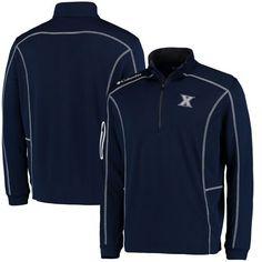 Xavier Musketeers Columbia Golf Shotgun Omni-Wick Quarter-Zip Pullover Jacket - Navy - $69.99