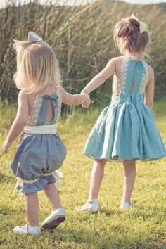 Haven Dress Romper Pattern for Sewing by VFT – Violette Field Threads Outfits Niños, Kids Outfits, Blue Outfits, Sewing For Kids, Baby Sewing, Kids Sewing Patterns, Sewing Clothes, Diy Clothes, Summer Clothes