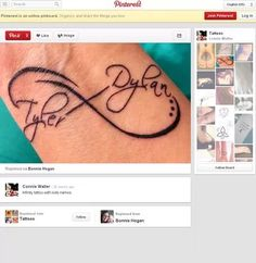 infinity tattoo kids names - Google Search