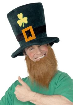 Check out Green Leprechaun Hat with Beard - Hats & Headwear Costume Accessories from Wholesale Halloween Costumes Beard Accessories, Fancy Dress Accessories, Costume Accessories, Saint Patrick, O Leprechaun, Six Nations Rugby, Fancy Dress Hats, Wholesale Halloween Costumes, Folklore