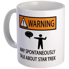 Spontaneously Talks About Star Trek Mug
