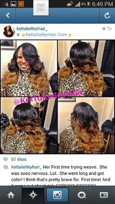 Ombred Brazilian sew in