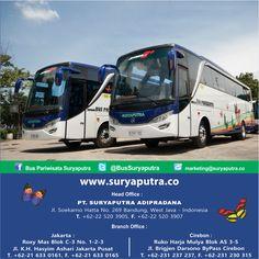 """Bus Pariwisata Terbaik dengan Pelayanan Terbaik, dapatkan kenyamanan dan keamanan dalam berwisata. Hub Kantor Kami / agen-agen resmi kami di seluruh Indonesia. """"We Make Your Way"""" *Follow IG kami di https://www.instagram.com/buspariwisatasuryaputra/"""