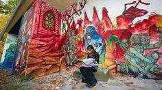 """Murales all'ex zoo che diventa il museo """"Sam"""""""