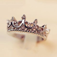 Crown Ring Palace Restoring Ancient Ways The Queen's Temperament Woodwork Anillos Tail Silver Rings For Women Rings from Jewelry on Crystal Crown, Crystal Jewelry, Jewelry Rings, Fine Jewelry, Pandora Jewelry, Jewelry Watches, Silver Jewelry, Silver Rings, Gold Jewellery