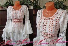 Очаровательное платье Марины Морозовой. Схемы вязания крючком