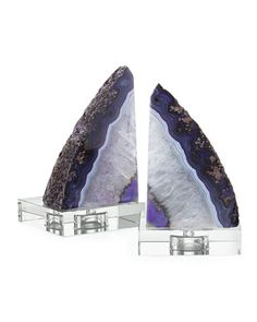 Purple Geode Bookends by Regina-Andrew Design at Horchow. #HorchowHoliday14