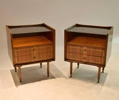 Pair of Night Stands, Made in Italy, 1950s 2