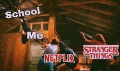 i don't like school 🖕 i like stranger things ❤️ Stranger Things Quote, Stranger Things Actors, Stranger Things Have Happened, Stranger Things Aesthetic, Stranger Things Season, Stranger Things Netflix, Really Funny Memes, Funny Relatable Memes, It's Funny