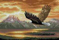 Dimensions Gold Collection Counted Cross Stitch Kit, The Silent Flight, 18 Count Beige Aida, x Cross Stitch Bird, Cross Stitch Animals, Counted Cross Stitch Patterns, Cross Stitch Designs, Cross Stitching, Dimensions Cross Stitch, Amazon Art, Wall Photos, Frames