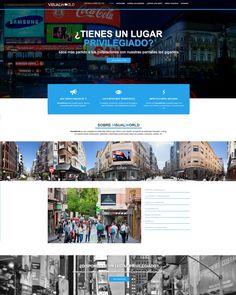 Diseño de la página web de Visual World. VisualWorld hace posible que tu negocio se muestre allá donde tú quieras gracias a sus pantallas led gigantes. Visita su web en http://www.visual-world.es/ Sitio web diseñado por: http://www.fc-networks.com